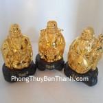 Bộ Tượng Tam Đá (Phước Lộc Thọ) bột đá mạ vàng non Y143