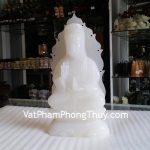 Quan Âm bạch ngọc tượng thờ mang tới bình an, trừ tà H045